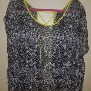 Torrid open laced back blouse